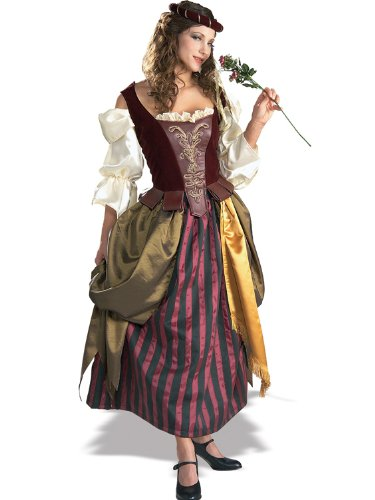 Sexy Renaissance Maiden Costume Gypsy Wench Peasant Style Dress Midieval Era