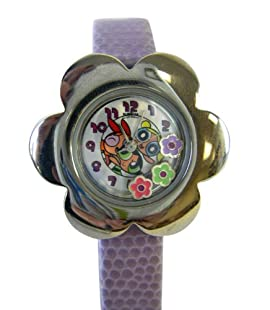 Flower Power Powerpuff Girls Watch - Girls Powerpuff Girls Watch with Flower Studs