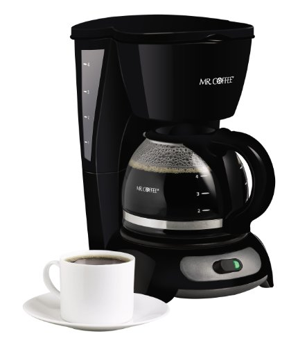 Mr. Coffee 4-Cup Switch Coffeemaker, Black, TF5 (Coffee Makers Glass compare prices)