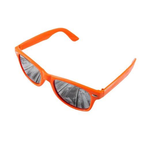 4soldDamen Sonnenbrille schwarz schwarz Universal schwarz mirror orange Universal