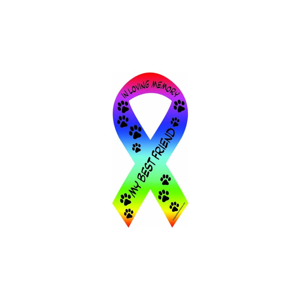 Imagine This 8 Inch by 4 Inch Car Magnet Social Issues Ribbon, In Loving Memory of My Best Friend
