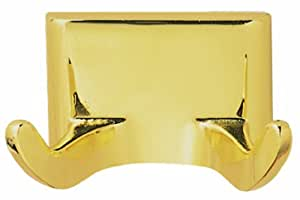Design House 533307 Millbridge Double Robe Hook, Polished Brass