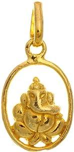Shri Ganesha Small Pendant - Sterling Silver