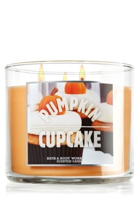Bath and Body Works 14.5 Oz 3-wick Candle Pumpkin Cupcake