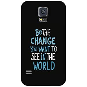 Samsung Galaxy S5 Back cover - Be The Change Designer cases