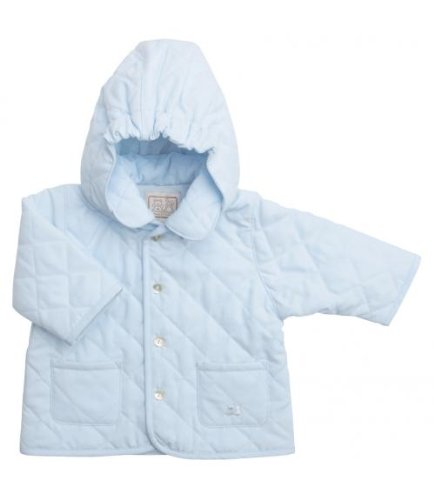 Emile et Rose Powder Blue Hooded Showerproof Jacket, Jackets, Baby boy, 3-6 months