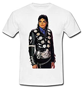 Customized Men's Classic Cotton T-shirt Michael Jackson Pattern Printed