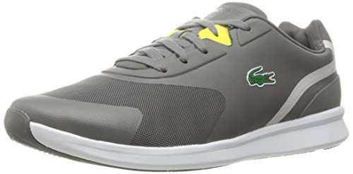Lacoste Men's Ltr.01 316 1 Spm Fashion Sneaker, Grey, 9.5 M US