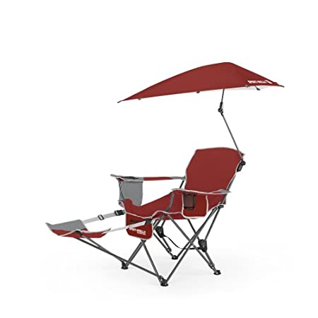 Sit back and relax in the reclining sport chair with full coverage umbrella. The Sport-Brella Recliner Chair is perfect for camping, sporting events, tailgating and the beach. Kick back with the easily adjustable 3-position recliner and stay protecte...