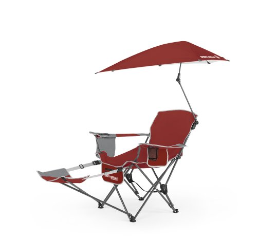 Sport-Brella Recliner Chair, Firebrick Red