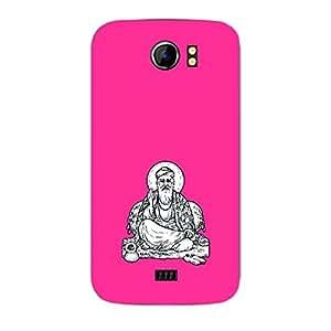 Skin4gadgets Sant Wahe Guru Nanak - Line Sketch on English Pastel Color-Bubble Gum Phone Skin for CANVAS 2 PLUS (A110Q)