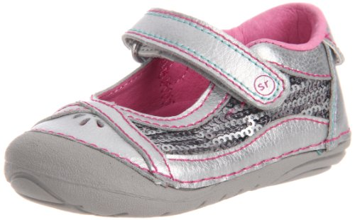 Stride Rite Srt Sm Dream Queen Mary Jane (Infant/Toddler),Silver,3 W Us Infant front-694834