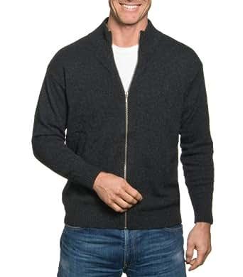 Wool Overs Gilet homme à fermeture éclair en laine d'agneau Anthracite XS