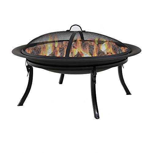 Sunnydaze-29-Inch-Portable-Folding-Fire-Pit-with-Carrying-Case-and-Spark-Screen