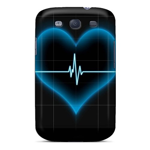 For Kpx1206Uplz Blue Heart Lifeline Protective Case Cover Skin/Galaxy S3 Case Cover
