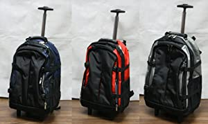 Travel Trolley Backpack Rucksack Flight Hand Luggage Cabin Wheeled Bag 22""