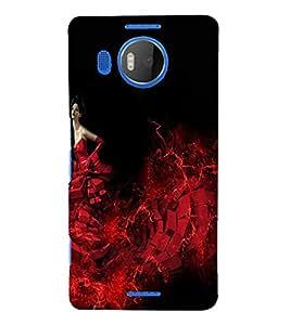 PrintVisa Modern Art Angel Girl 3D Hard Polycarbonate Designer Back Case Cover for Nokia Lumia 950 XL