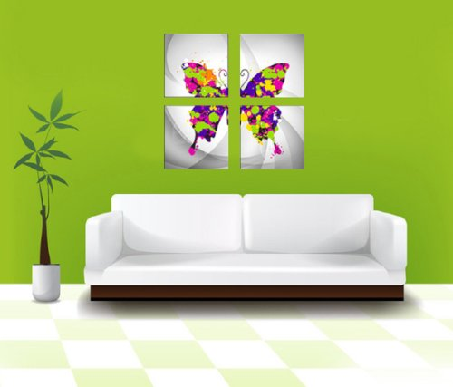 Walplus Large Canvas Picture Butterfly Wall Stickers Mural Art Decal Self Adhesive Paper