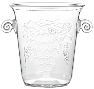 Prodyne AG-81-B Grape Embossed Champagne/Wine Bucket, Tulip Shape