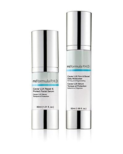 MD FORMULA Beauty-Tratamiento Facial 2 Piezas Caviar Lux Respair& Protect Facial Serum, Caviar Lux Firm & Boost Daily Moisturizer