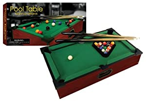 New Club Fun Tabletop Executive Pool Table W/ Numbered Balls 2 Cue Sticks