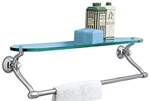 American Standard 6726 Collection 24-Inch Towel Bar with Glass Shelf, Chrome