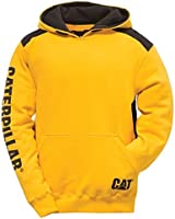 Caterpillar C1910802 Logo Panel Mens Hooded Jumper