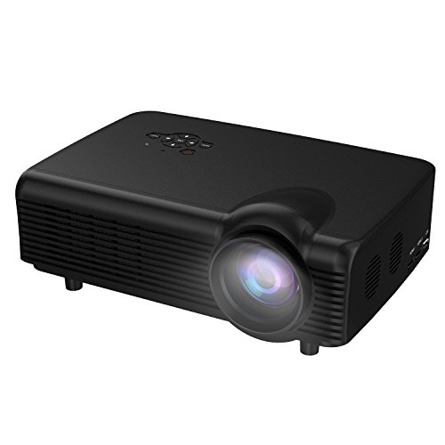 Home Projector,Abdtech 3000 Lumens Led Video Projectors Support HD 1080P For Home Theater With Optical Keystone...