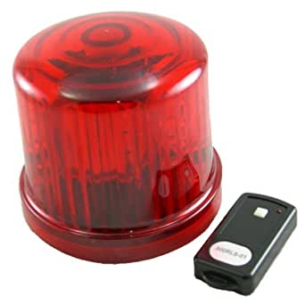 Led Police Beacon Revolving Light Battery Op Remote
