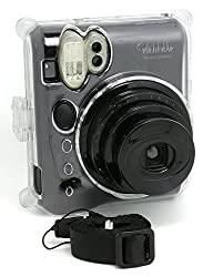 CAIUL Fashion Transparent Crystal fuji mini case for fujifilm INSTAX Mini-50s cameras