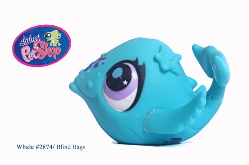 Littlest Pet Shop # 2874 Whale with Music Note Musically Talented Pet - 1