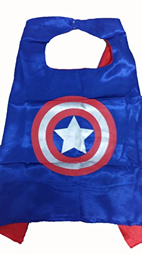 KeepworthSourcing Double Side 55*70CM Superhero capes for Kids Party Children Gifts Captain America