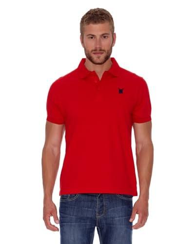Polo Club Polo Custom Fit Escudo Liso Rojo