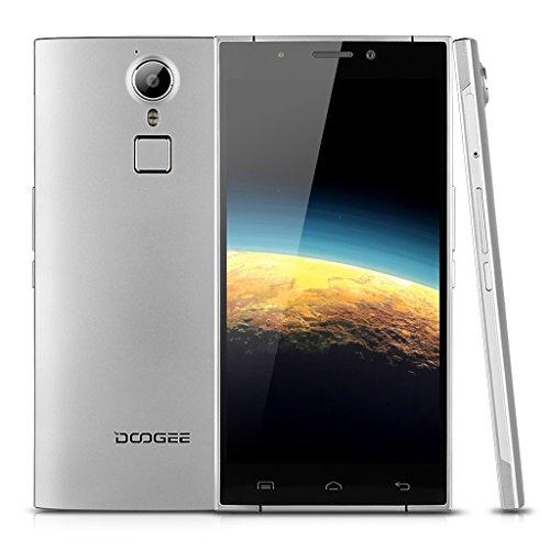 Doogee F5 4G Lte – Smartphone Libre Android (Pantalla 5.5″ Phd, HotKnot, 3G Ram 16G Rom, Quad Core, Fingerprint Id, Carga Rápida, Cámara 13Mp, Xender), Plateado