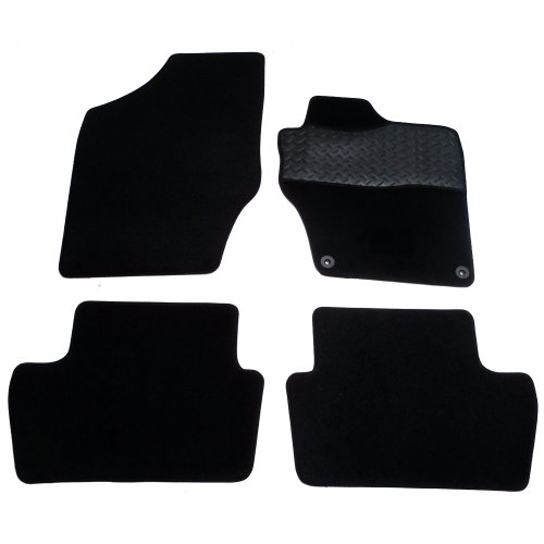 Sakura Mat Set includes Carpet with Rubber Heelpad for Citroen DS4 Also C4 2011 Onwards - Black