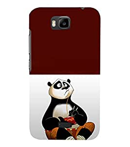 printtech Chinese Panda Cartoon Back Case Cover for Huawei Honor Bee