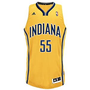 NBA Indiana Pacers Gold Swingman Jersey Roy Hibbert #55 by adidas