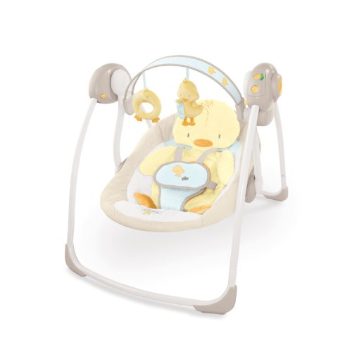 Bright Starts Comfort and Harmony Portable Swing, Snuggle Duckling