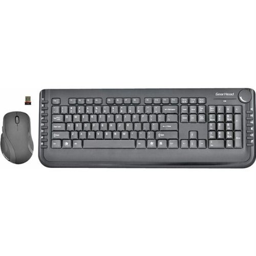 Gear Head 2.4GHz Wireless Keyboard with Optical Mouse (Volume Knob Usb compare prices)