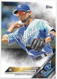 Omar Infante 2016 Topps Kansas City Royals Card #34