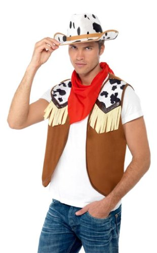 Smiffys Red Instant Kit Wild West Men's - One Size