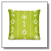 Olli & Lime george Pillow, Lime, Green/White