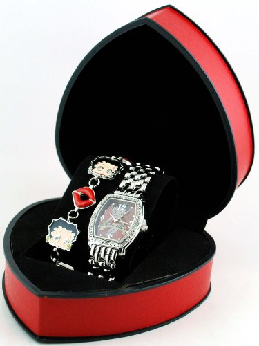 Betty Boop #BBW352S Women's Watch and Bracelet Gift Set