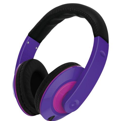 Vibe Sound Vs-867-Prp Color Curve Stereo Headphones - Purple