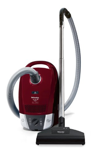 Miele S6220 2000 Watt Cat and Dog Bagged Cylinder Vacuum Cleaner, Tayberry Red