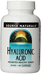 Source Naturals Hyaluronic Acid, 50mg, 60 Capsules