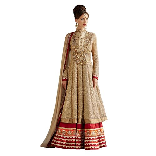 Tranquil Beige Color Long Length Net Anarkali Suit
