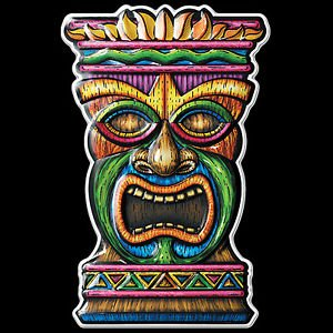 [New Luau Voodoo TIKI HEAD MASK Door Sign Wall Hanging Totem Party Decoration-3-D] (Tiki Mask Costumes)