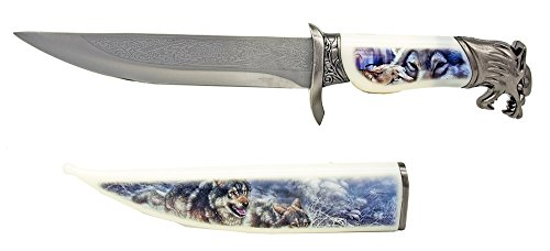 """13.5"""" Wildlife Collection Knife - Wolf"""
