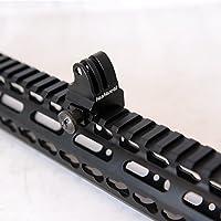 Pistolet fantaseal Picatinny Rail Support pour caméra GoPro Adaptateur Support Pistolet Fusil Chasse Support fusil Pistolet Pistolet à mousqueton pour appareil photo pour AR-15M4M16, etc. Pour caméras GoPro SJCAM Garmin VIRB XE Xiaomi Yi Action